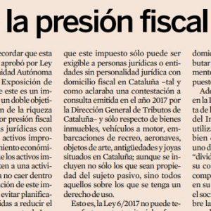 Se incrementa la presión fiscal en Cataluña