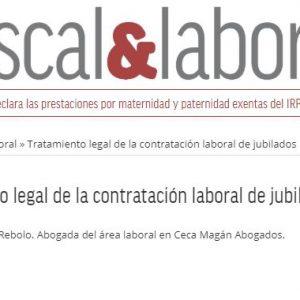 Tratamiento legal de la contratación laboral de jubilados