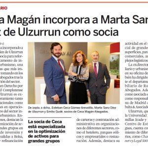 Ceca Magán incorpora a Marta Sanz Díez de Ulzurrun como Socia