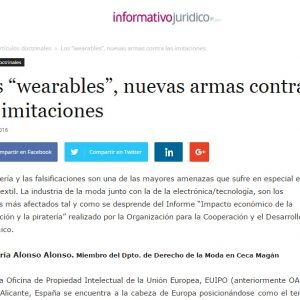 """""""Wearables"""", nuevas armas contra imitaciones"""